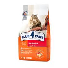 """Club 4 Paws Премиум сухой корм  для кошек """" с эффектом выведения шерсти из пищеварительной системы"""